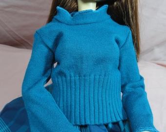 SD DOLLFIE BJD Sweater Turquoise