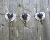 Heart and lavender garland