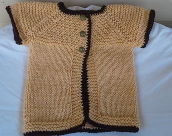 Hand Knitted Toddlers Childs Girls Button Cardigan Bollero