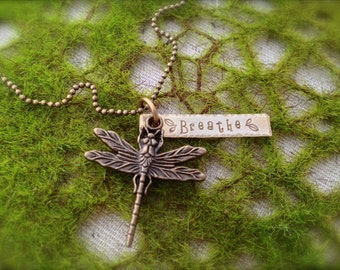 Dragonfly Breathe Necklace