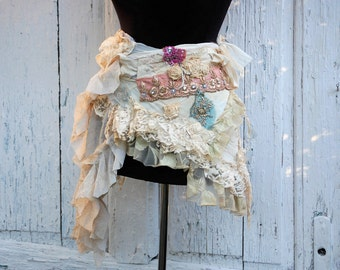 Skirt, belly dance, tribal ,fusion,dance, marie antoinette, boho, gypsy skirt, shabby chic, layers and friils, wrap skirt, women ,festival