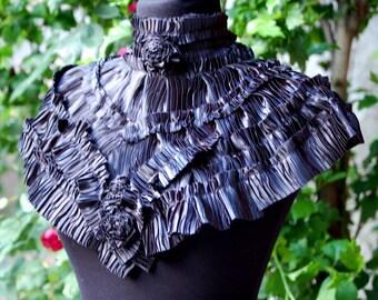 Collar, goth, steampunk collar, goth collar, black collar, Crimson Peak , vampire, victorian, diva, drama, noire, Tim Burton, women costume