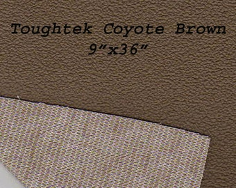 Toughtek 9 x 36  Coyote Brown Non Slip Fabric, Soiling , Shoe Fabric