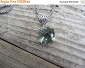 ON SALE Beautiful green amethyst necklace handmade in sterling silver 925