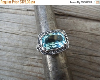 ON SALE Beautiful Blue topaz ring made in sterling silver