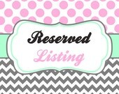 Reserved for Carlyn
