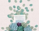 Felt Ovals // Felt-Fetti by Benzie // Felt Shapes, Die Cut Shapes, Succulent Craft, Felt Plants, Terrarium Kit, Felt Flowers, Flowers DIY