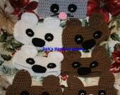 Hand Crocheted Animal Ear Warmers