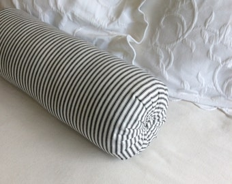 TICKING  bolster black and white 6x18 6x20 6x22