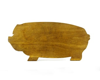 Vintage Pig Cutting Board, Wood Cutting Board, Farmhouse Decor, Rustic Kitchen