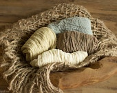 Four Cheesecloths and Burlap Layering, Natural Props, Organic Props, Newborn Props, RTS Props, Brown, Tan, Gray Cheesecloth, Rustic props