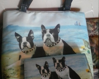 boston terrier handbag/wallet