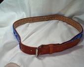 1992 Genuine Leather Hand Beaded Cowgirl Western Belt.