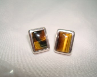 1992 Tigereye Stone Earrings.