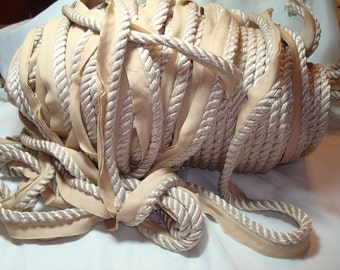Large Bolt of Soft Beige Cord Piping Trim.