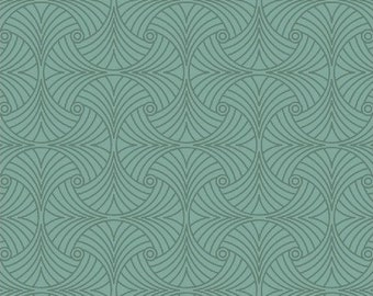 Tiffany 33586 in teal - sold by the yard