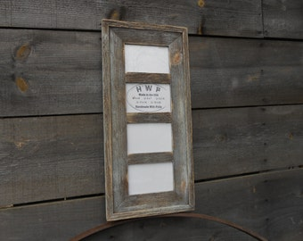 Maine Barn Wood Collage Frames Family Size 4 Hole