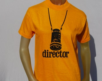 Vintage 70's DIRECTOR t-shirt NOS never used Small old Hollywood souvenir t-shirt by thekaliman