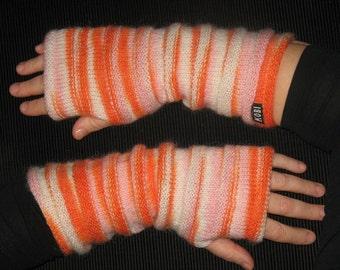 fingerles gloves, knit