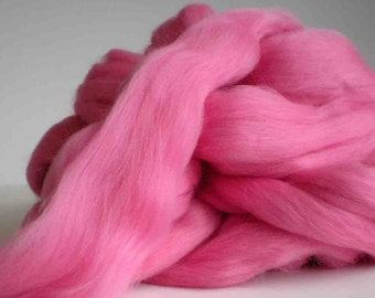 """New for 2016  Ashland Bay Solid Colored Merino for Spinning or Felting """"Camellia""""  4 oz."""