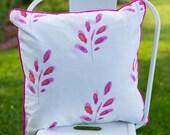 Decorative Pillow in our Artisan Textiles  'Pink Petals' Print -