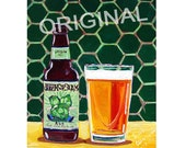 Hopslam Ale Beer Painting, Bell's Brewery, Michigan Beer Art, Gift for Beer Drinker, Beer Gift for Brother, Man Cave Beer Poster, Bar Art