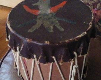 Vintage Handmade Indian Toy Drum