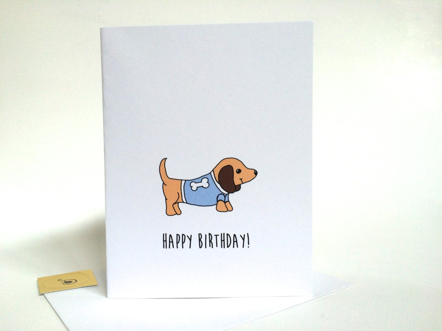 Dachshund birthday card birthday card from the dog made on dachshund birthday card birthday card from the dog made on recycled paper comes with envelope and seal bookmarktalkfo Images
