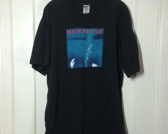 Vintage 1990's Morphine Grunge Rock Band black T-shirt size XL 23x30 all cotton Like Swimming tour