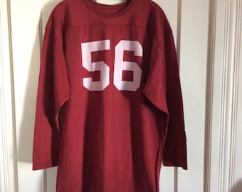 Vintage 1970's number 56 football team jersey t-shirt size XL heavy Rayon Nylon