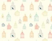 Organic KNIT Fabric - Birch Farm Fresh Knits - Bird Song Multi Knit