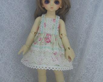 Super Dollfie Yo SD Littlefee One Piece Dress - Apple Green Flower