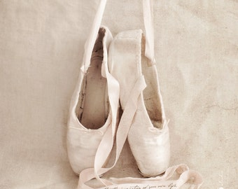 Personalized Ballet Print, Ballet Slippers Photo Print, Girls Room Art, Dancer Decor, Ballet Poster, Ballerina Wall Art, You Personalize