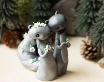 Squirrel Wedding Cake Topper by Bonjour Poupette