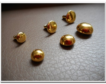 100 sets 6mm, 8mm,10mm golden finish round rivets,dome Rivets Double Cap Rivet,leather rivets,rivets studs,dome cap rivets