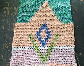 Lavender Tapestry Crochet Rag Rug