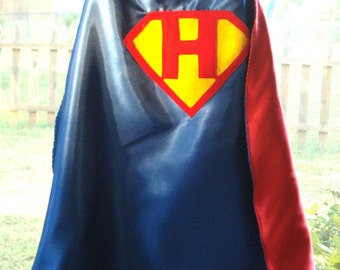Custom Initial Superhero Cape