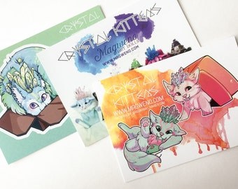 Crystal Kitten Postcard Set