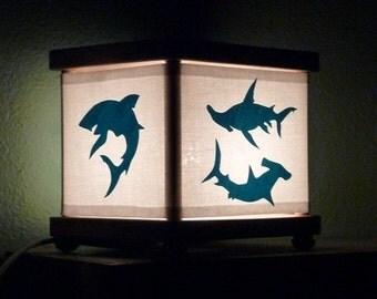 Shark Night Light Ocean Blue Sharks Lighting Decor