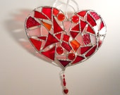 Stained Glass Patchwork Heart