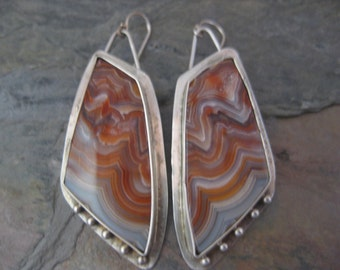 Laguna Lace Agate Statement Earrings