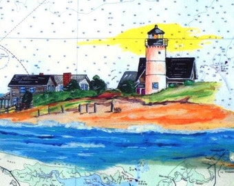 Sandy Neck Lighthouse Art Print-is in Barnstable MA (Cape Cod) and is a barrier beach marked by the Sandy Neck Lighthouse on Beach Point.