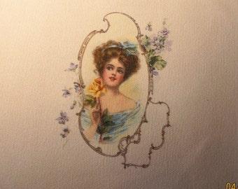 Victorian lady motif
