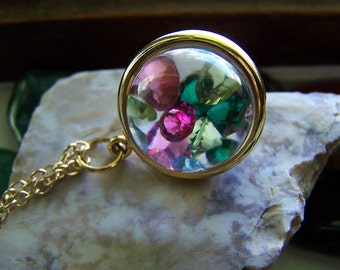 Vintage Keepsake Bubble Locket with Swarovski Crystals