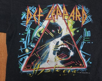 Rare Vintage Def Leppard Shirt // Hysteria// Rock Concert Band T-Shirt // 1987 USA Tour Tee
