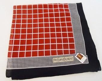 The authentic Yves saint laurent Classic Handkerchief.70s.