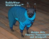 Malden Mills Powershield® and Windpro® Repels Snow, Wind and Rain * BuddyWear Winterwear Suit for Italian Greyhounds and all Small dogs.