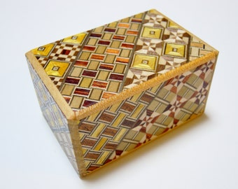 Japanese Puzzle box (Himitsu bako) 2.8inch (73mm) 5steps Modern Yosegi