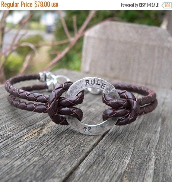15% off - Rustic Men's Sterling and Latigo Bracelet