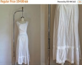 30% off AWAY SALE edwardian 1910s lawn dress -  MILKWEED white antique cotton maxi dress / Xs